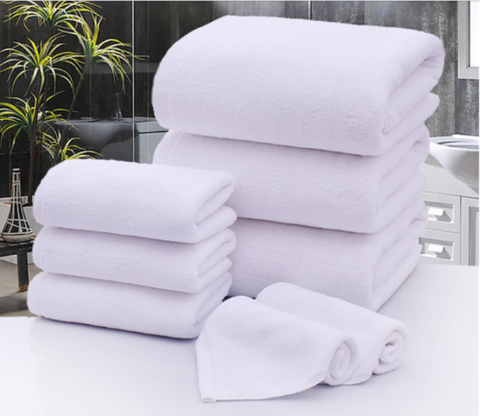 Microfiber Filling Hotel Collection Bath Towels Rectangle Shape 1200g