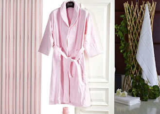 China Jacquard Comfortable Hotel Luxury Bath Robes , Women's / Mens Luxury Towelling Bathrobe supplier
