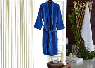 China Colored Luxury Hotel Patterned Toweling Bath Robe , Womens Luxury Dressing Gown supplier