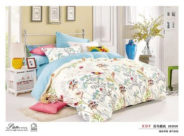 China Pigment Printing Super Soft Cotton Bedding Sets Single Size Mutli Colored supplier
