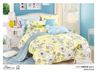 China Plain Dyed 4 Piece Colorful Bedding Sets , Queen Size Firefighter Bedding Sets supplier