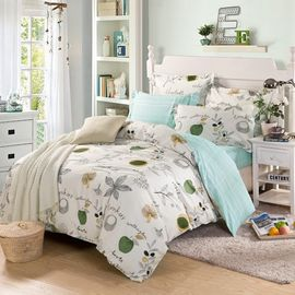 China 12868 cotton Full size duvet cover,bedsheet, pillowcase bedding set/2017 new design supplier