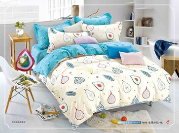 China 12868 pigment cotton fabric queen size kids duvet cover,bedsheet, pillowcase bedding set supplier