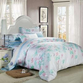 China King Size Tencel Home Bedding Comforter Sets Duvet Covers And Matching Curtains supplier