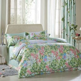 China Luxury Beautiful Home Bedding Sets Twin Size / Queen Size Silk Material supplier
