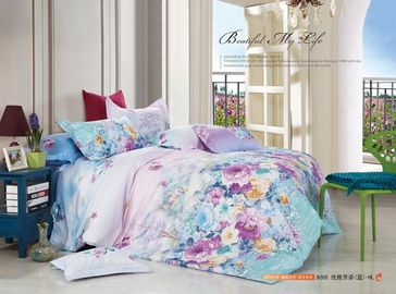 China Colorfule 4 Piece Bedroom Bedding Sets , Butterfly / Flower Printed Bedding Sets supplier