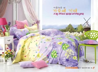 China King Size / Twin Size Four Piece Cotton Bedding Sets Reactive Printing supplier