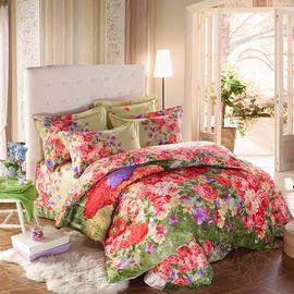 China Custom Color Home Bedding Comforter Sets With Matching Cushions And Curtains supplier