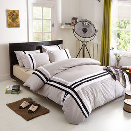 China Grey Color Household Use Cotton Satin Bedding Sets , Cotton Bed Linen Sets supplier