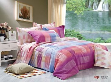 China Double Size Cotton Fitted Sheet Bedding Sets Environmental Friendly Super Soft supplier