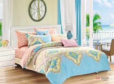 China Cotton Twin Bed Sheet Bedding Sets , Pigment Printed Crib Kids Bedding Sets supplier
