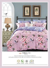 China Beautiful Comfortable Cotton Bedding Sets , Luxury Pink Home Bedding Sets supplier