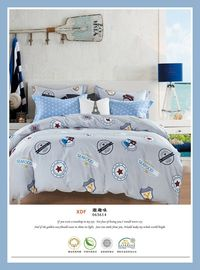 China 4 Piece Natural Cotton Bedding Sets , Double Size Cotton King Size Comforter Sets supplier