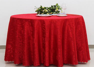 China Polyester Jacquard Plain Linen Table Cloths For Wedding Party Oilproof Fire Retardant supplier