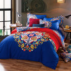 China Cotton Hotel Collection 6 Piece Bedding Comforter Sets Embroidered Flower Queen Size factory