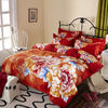 China Luxury 9 Pieces Home Bedding Comforter Sets Double Full Size Red Color company