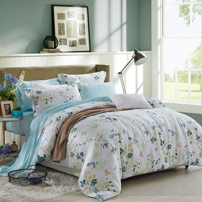 China Blue / Grey Home Bedding Comforter Sets Full / King / Queen / Twin  Size