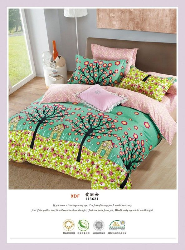 China Custom Cotton Bedding And Curtain Sets , Full Size Bed Cotton  Comforter Sets Supplier