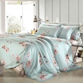 Customized Pieces Home Bedroom Bedding Sets , Flower Printed Bedding Sets