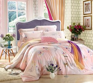 Embroidery Reactive Printed Home Bedding Sets , Home Bedding Comforter Sets