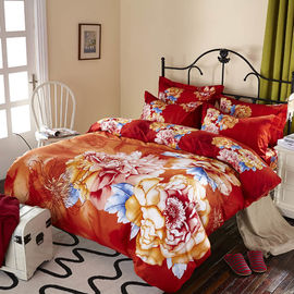 Luxury 9 Pieces Home Bedding Comforter Sets Double Full Size Red Color