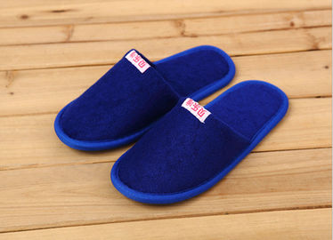 Comfortable Cotton Velour Disposable Hotel Slippers , Terry Cloth Flip Flop Slippers