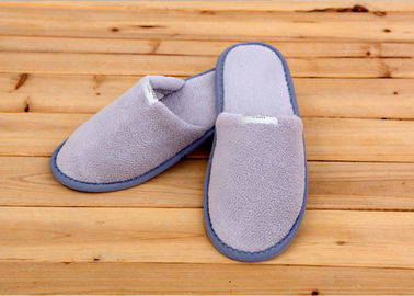 100 Percent Cotton Velour Velvet Disposable Hotel Slippers , Disposable Bathroom Slippers