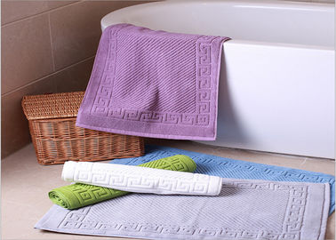 Decorative Hotel Bath Mats / Plush Bathroom Rugs Washable Disposable