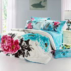 Asia 2017 New Style beautiful flower 13372 60*40s Reactive Printed 3d Bedding Sets